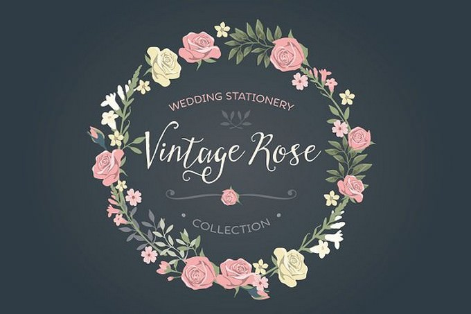 Vintage Rose wedding Set