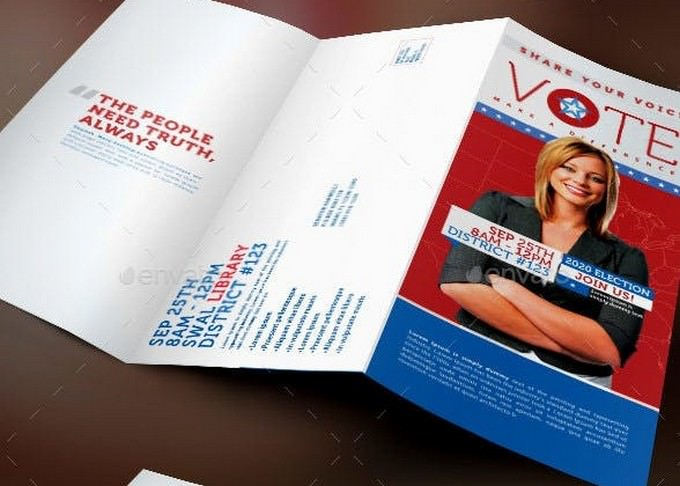 Vote Political Election Tri-Fold Brochure Template