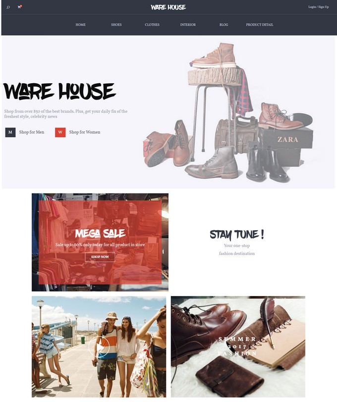 Warehouse - Multipurpose eCommerce WordPress Theme