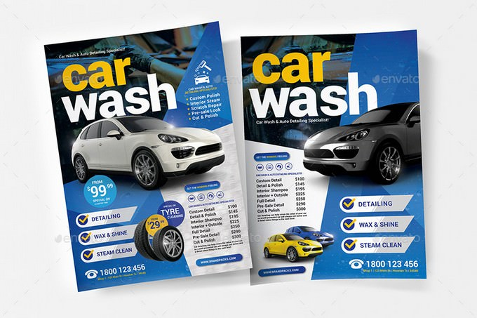 Wax & Shine Car Wash Flyer Template