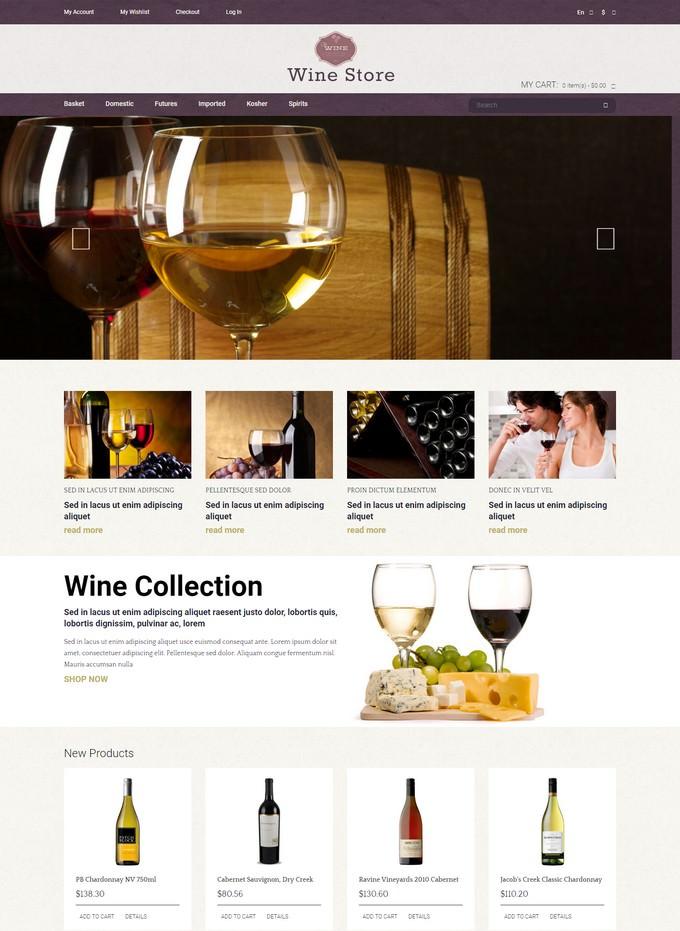 Wine Store Magento Theme # 2