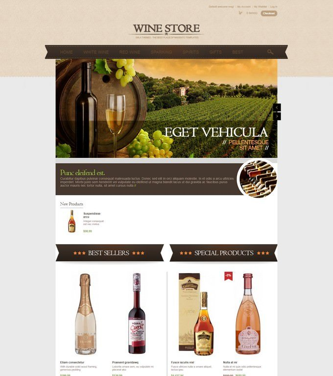 Wine Store Magento Theme - Gala Valezo