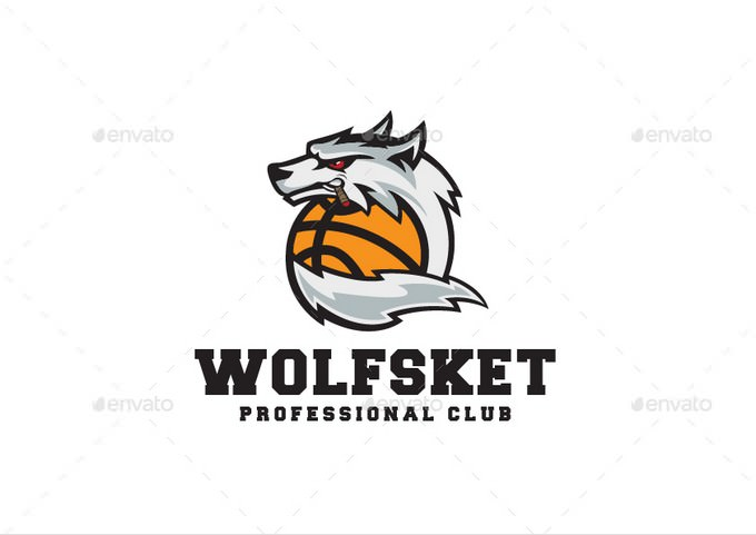 Wolf Basketball Logo design