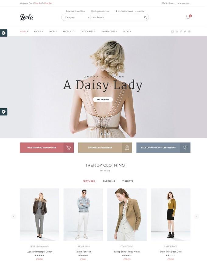 ZORKA – Wonderful Fashion WooCommerce Theme