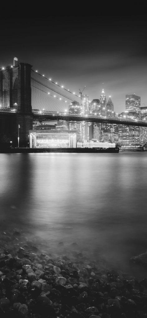 Beautiful Bridge black and white iphone X wallpaper 1125×2436