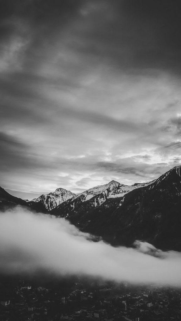 mountain black and white 1080×1920