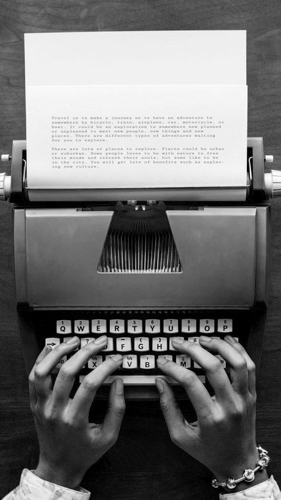typewriter black and white iphone wallpaper 1080×1920