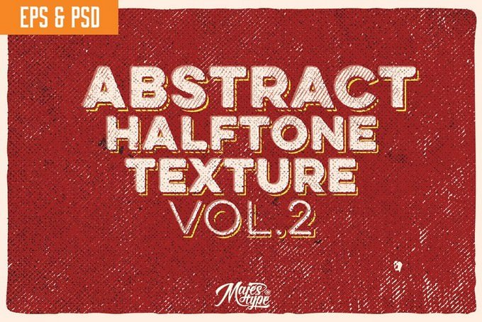 10 Abstract Halftone Texture Vol.2