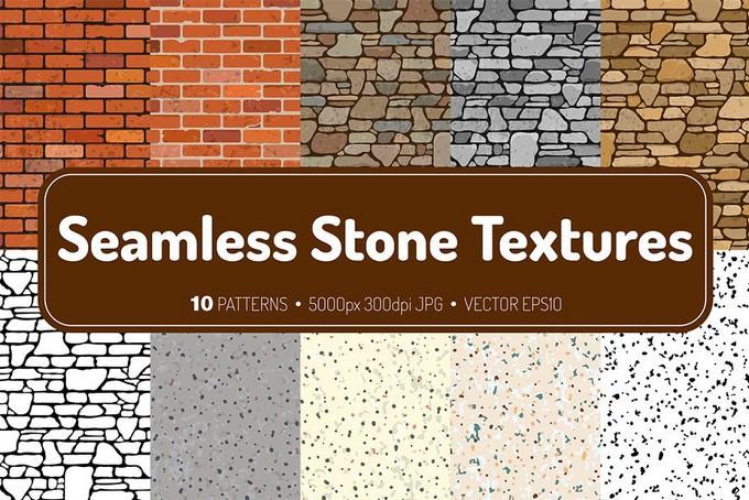 10 Seamless Stone Textures