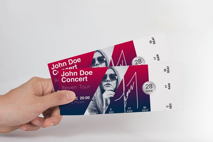 Ticket Mock Up Premium