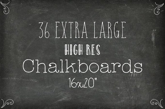 36 Chalkboard Backgrounds