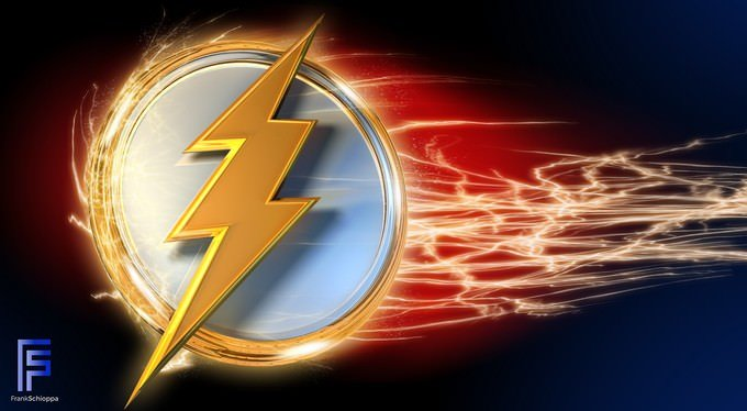 3D The Flash logo