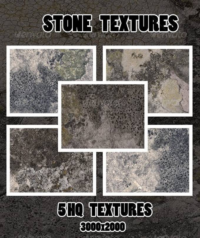 5 HQ Stone Textures