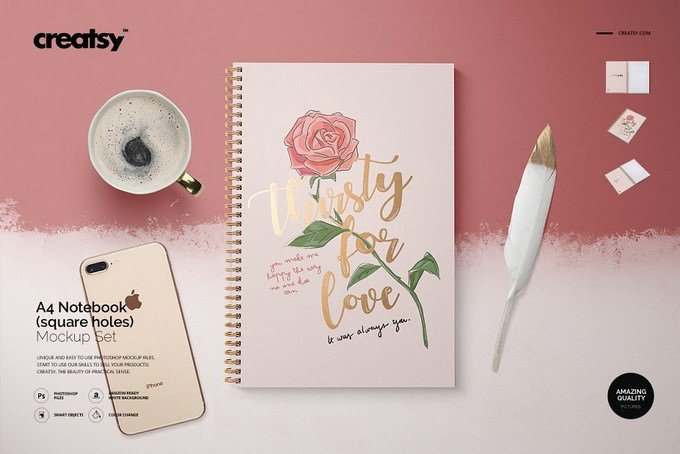 A4 Notebook Mockup Set