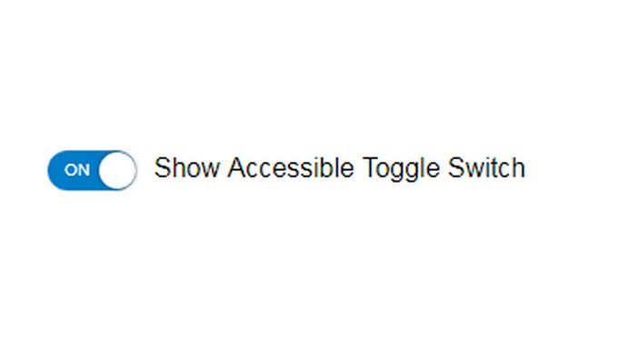 Accessible on off Toggle Switch