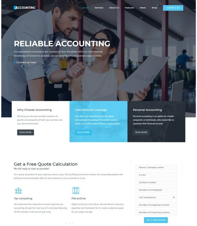Accounting And Finance WordPress theme
