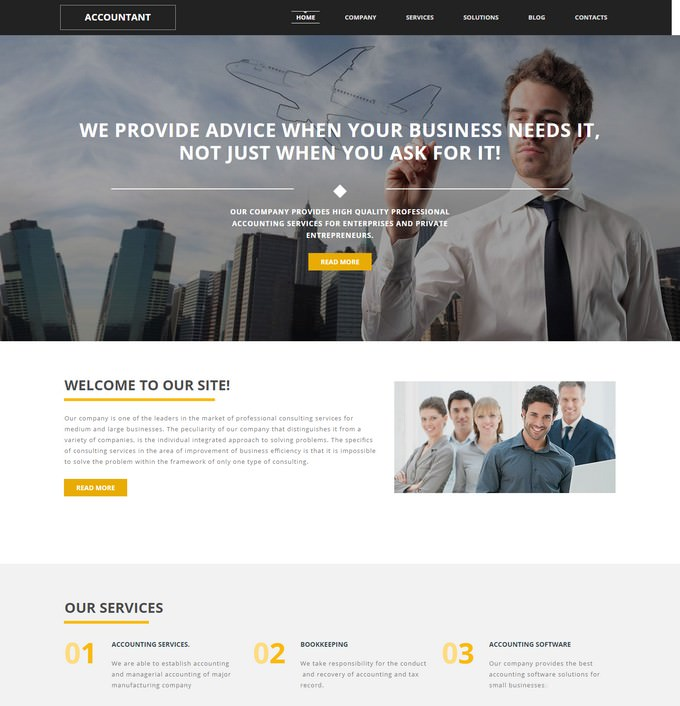 Accounting Website Responsive Moto CMS 3 Template