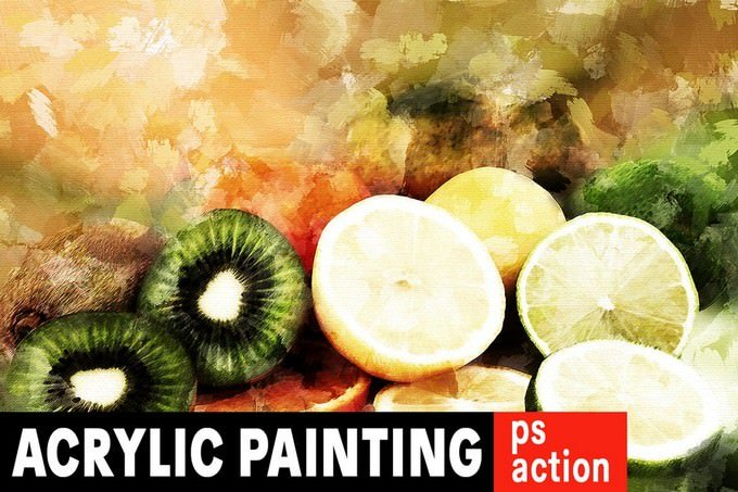 Acrylic Painting Photoshop Action