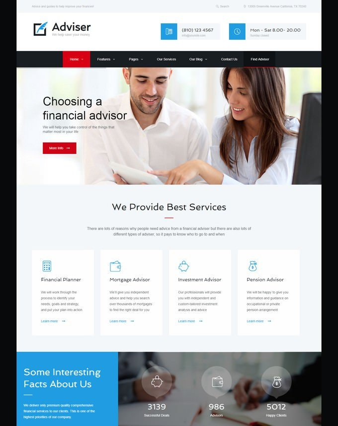 Adviser Accounting HTML Theme