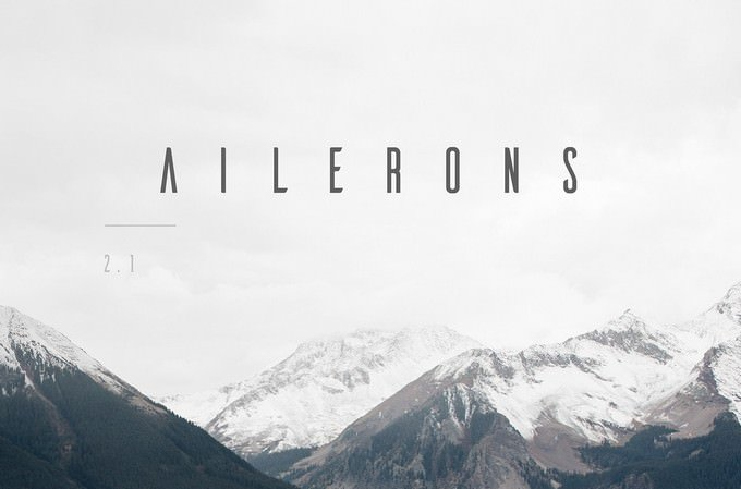 Ailerons Techno Typeface