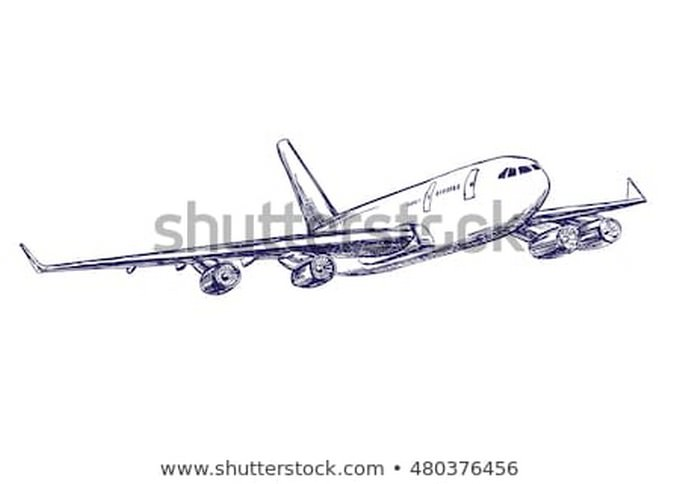 Airliner Hand Drawing