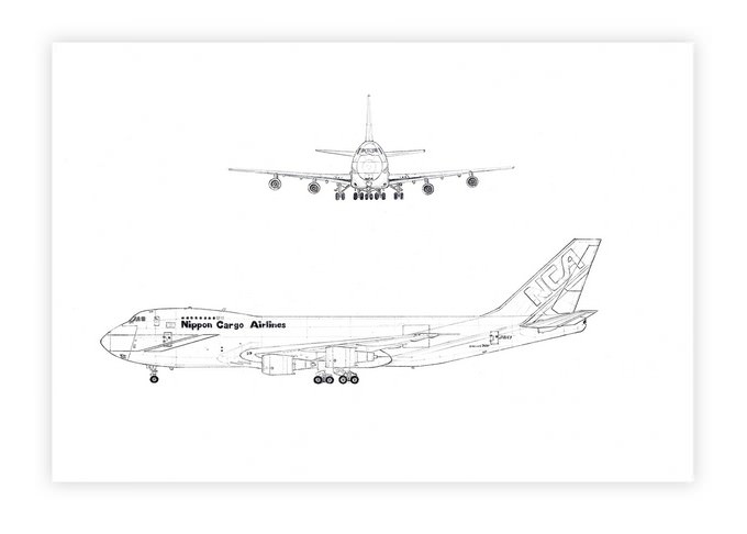 Airplane Technical Drawing