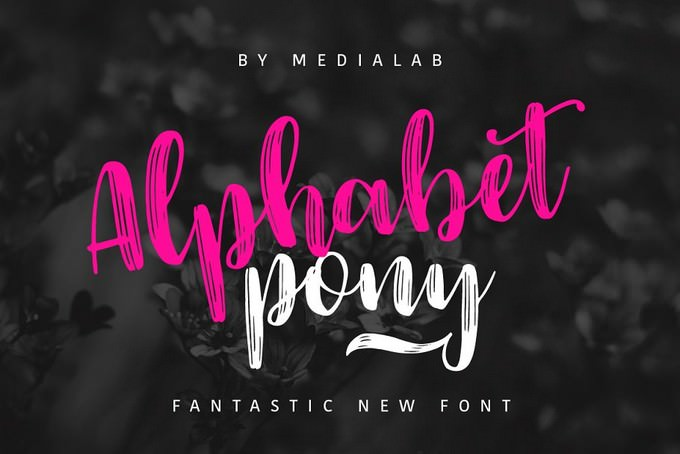 Alphabet Pony
