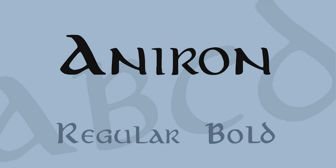Aniron Font Family