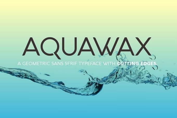 Aquawax - 12 Techno Font