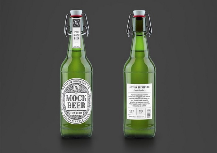Artisan Beer Bottle MockUp
