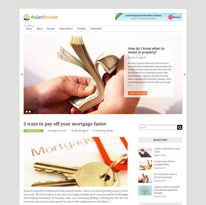 Asian Broker – The Mortgage Broker WordPress Theme