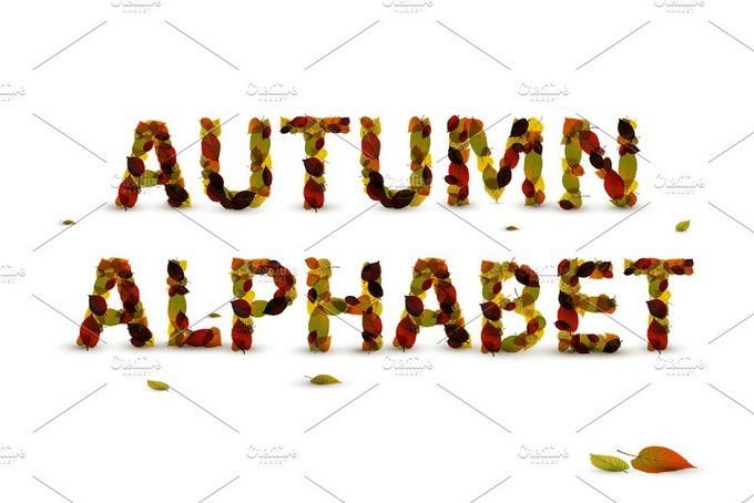 Autumn Leaf Alphabet