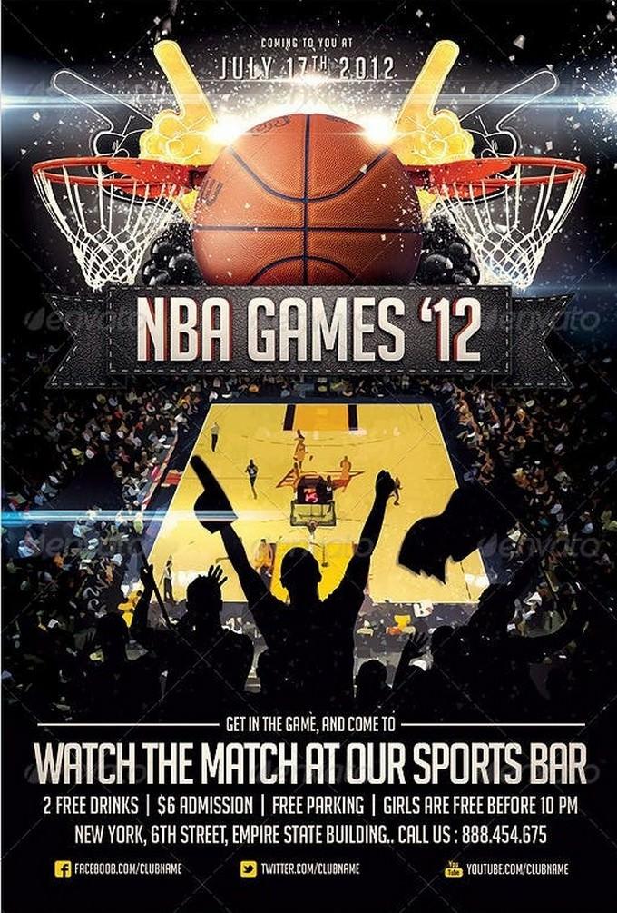 BasketBall Sports Flyer Template