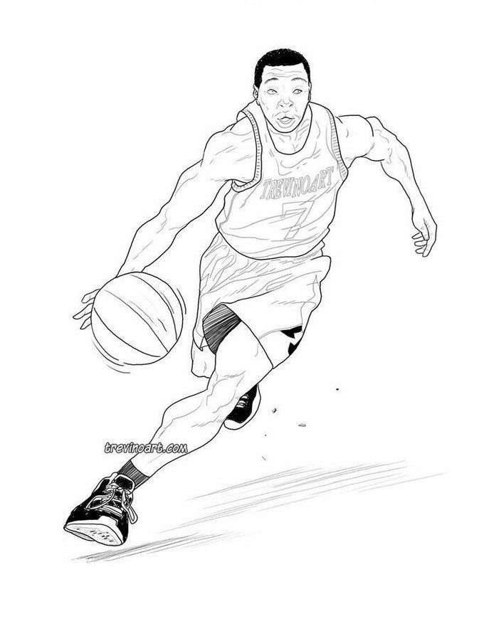 Basketball Drawing # 2