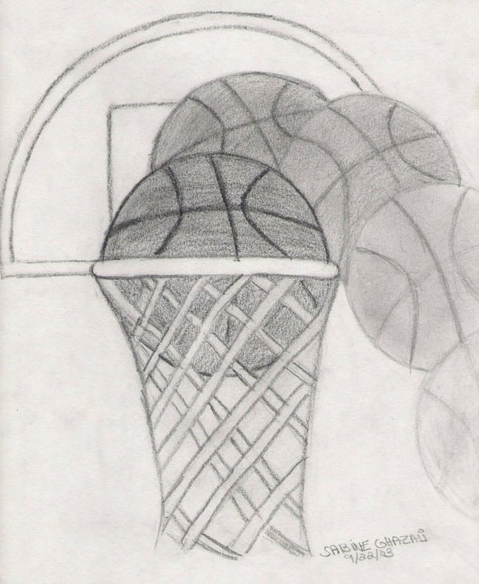Basketball Drawing # 4