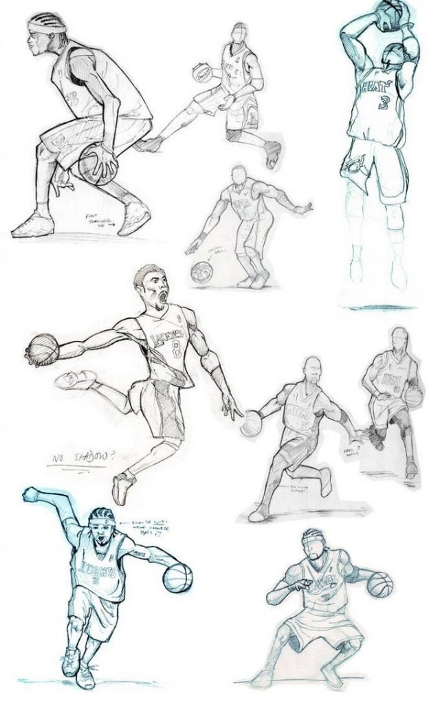 Basketball Sketches Drawing