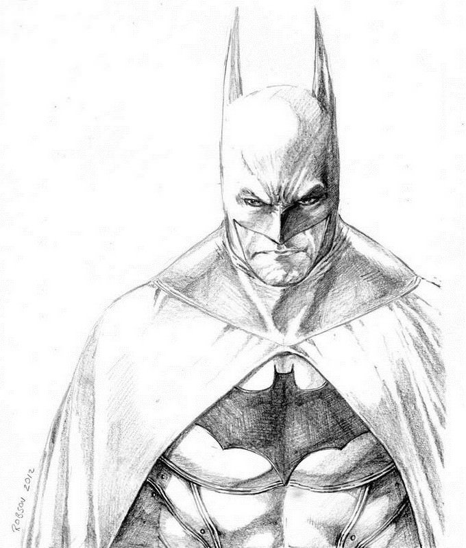 Batman Arkham City Drawing