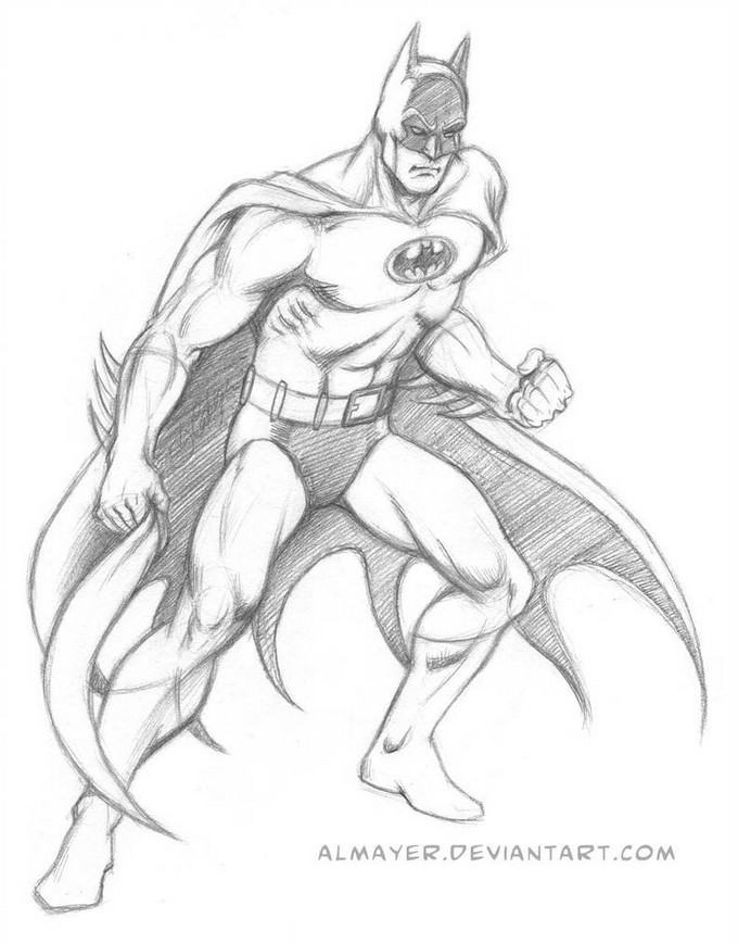 Batman - Garcia-Lopez style sketch Drawing