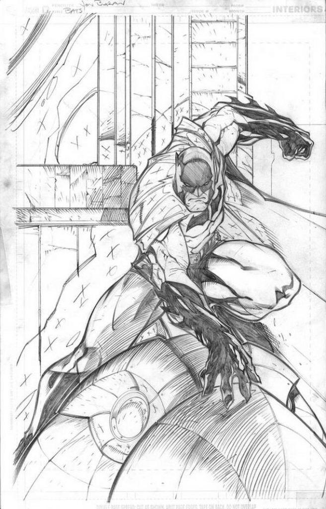 Batman Random Action Pose Drawing