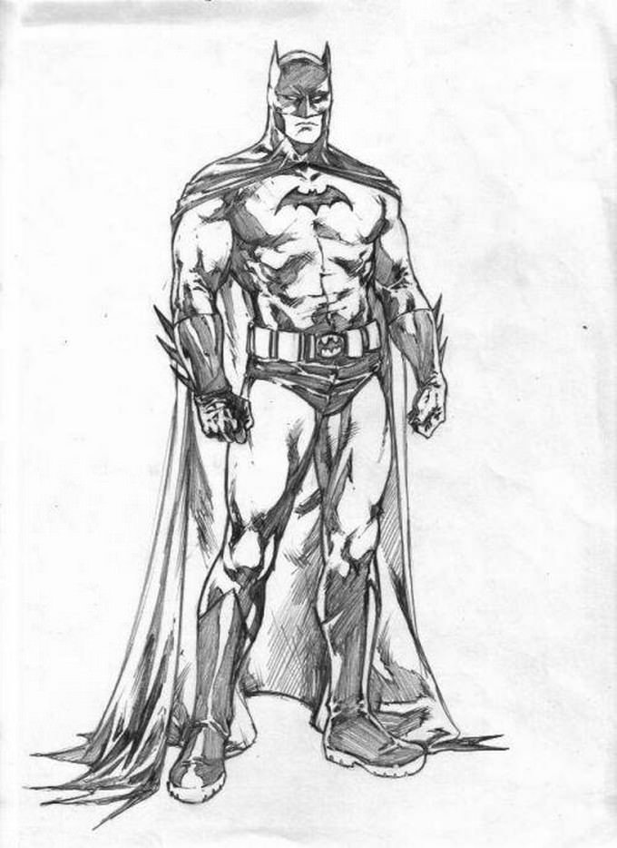 Batman Sketch 2 Drawing