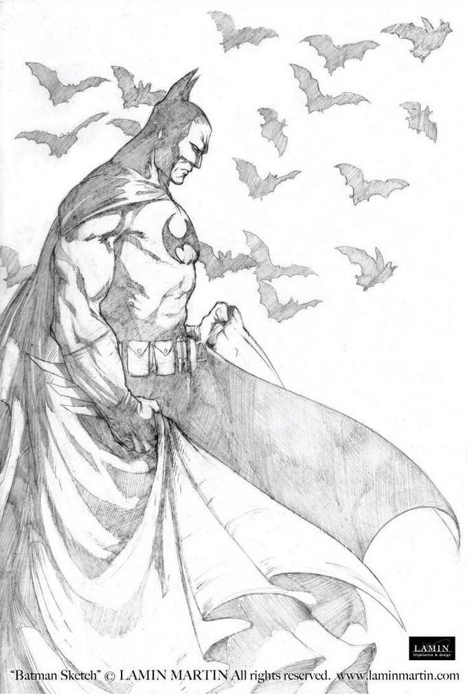 Batman Sketch Drawing