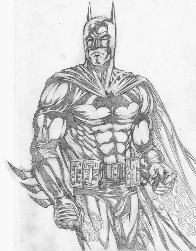 Batman Study Pencils Drawing