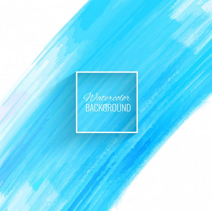 Beautiful Blue Watercolor Stroke Background