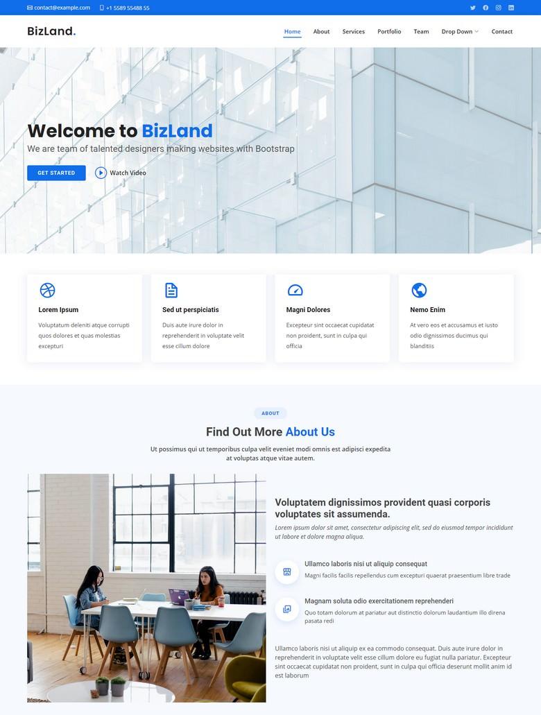 BizLand - Bootstrap Business Template