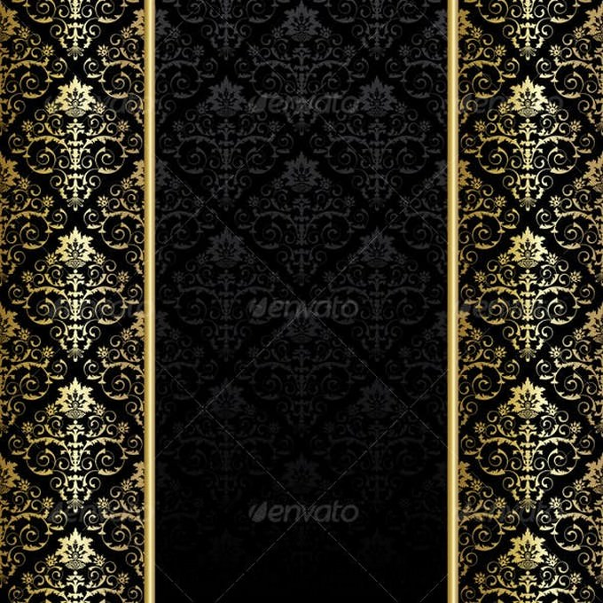 Black And Gold Background # 2