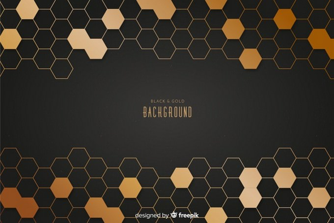Black And Gold Background Free