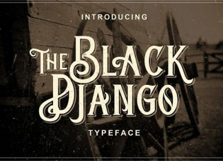 Black Django Typeface