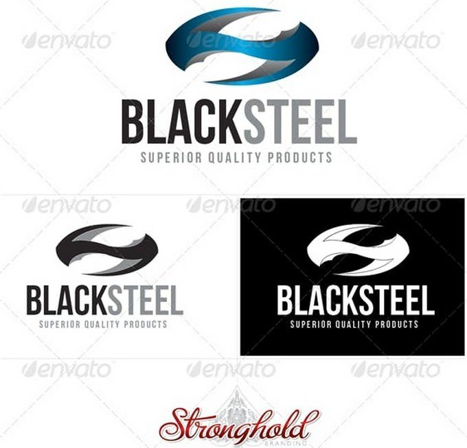 Black Steel Logo Template