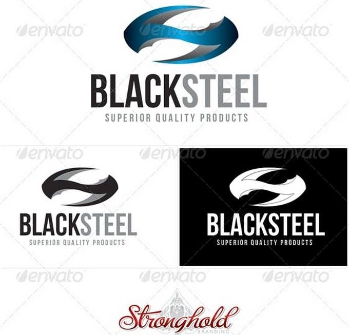 Black Steel Logo Template