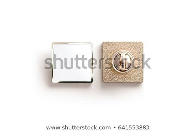 Blank Gold Pin Button PSD